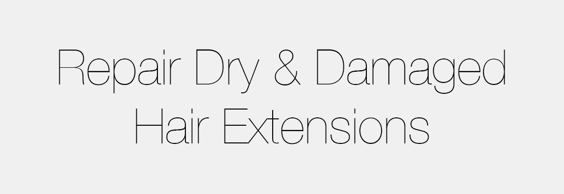 How To Repair Dry Damaged Hair Extensions Hair Education